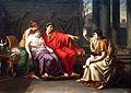 Jean-Baptiste Wicar - Virgilio legge l'Eneide ad Augusto, Ottavia e Livia.jpg